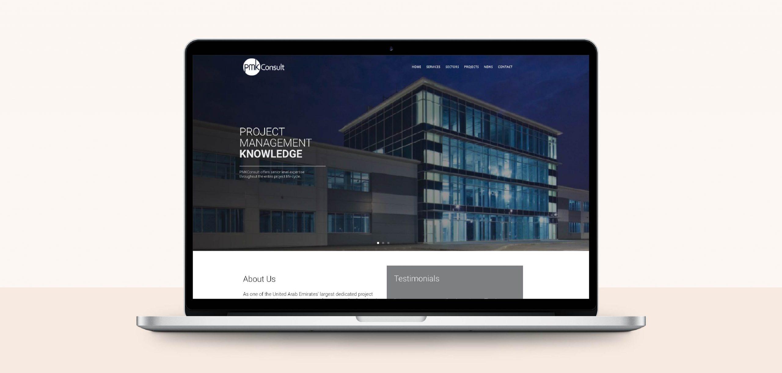 PMKConsult Website Design by Chris Howlett Dubai