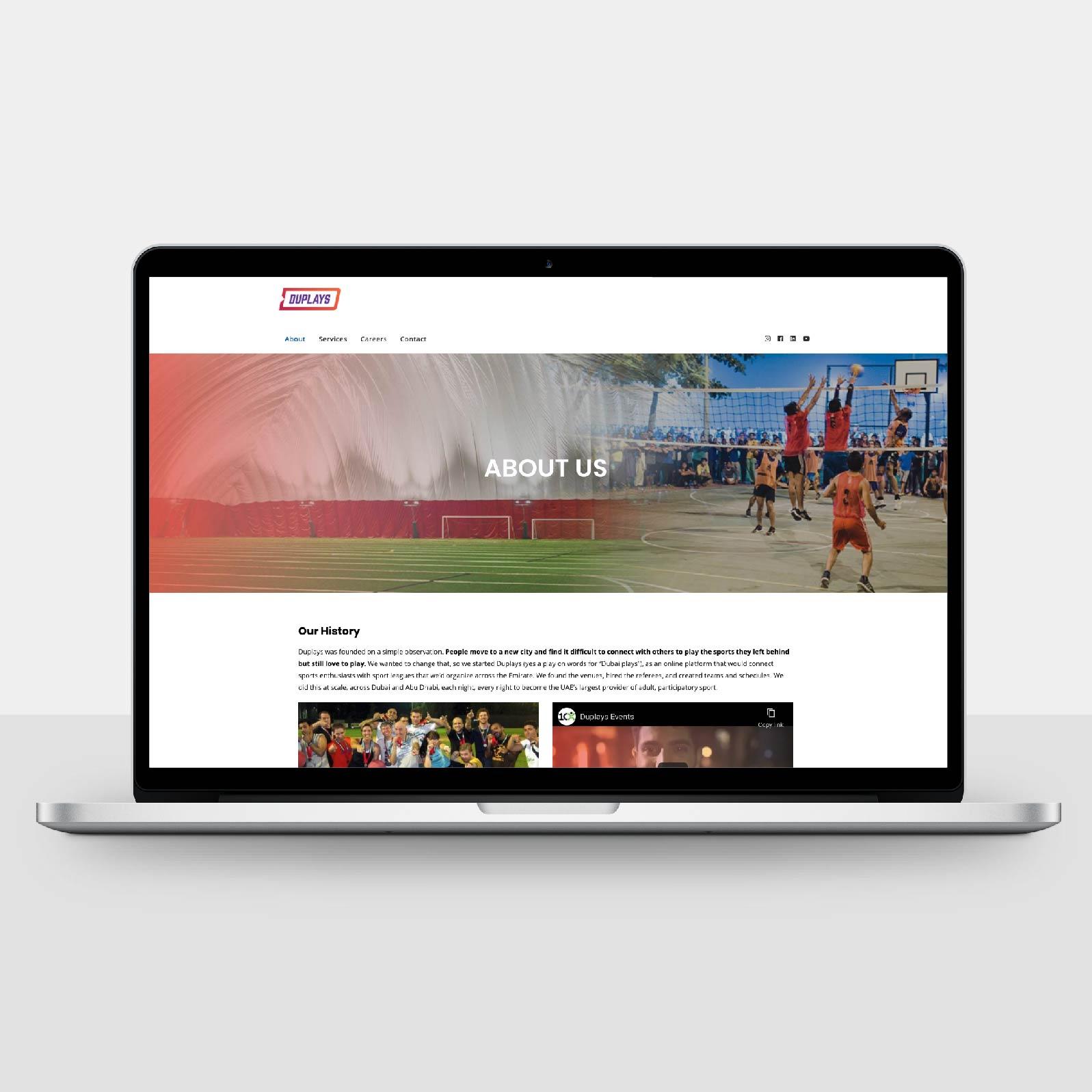 Duplays Website Design by Chris Howlett Dubai